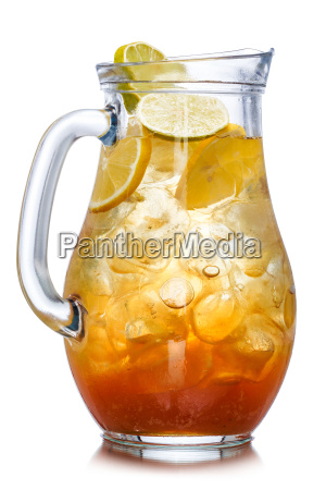 iced tea in the pitcher