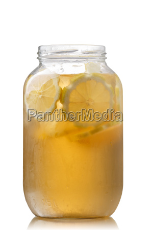 iced tea in a jar