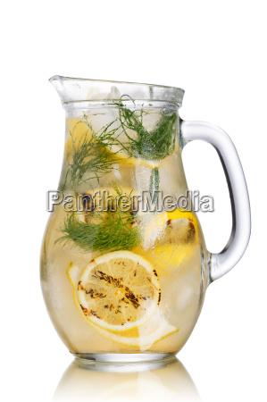 grilled lemon dill detox water pitcher