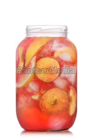 peach lemonade jar