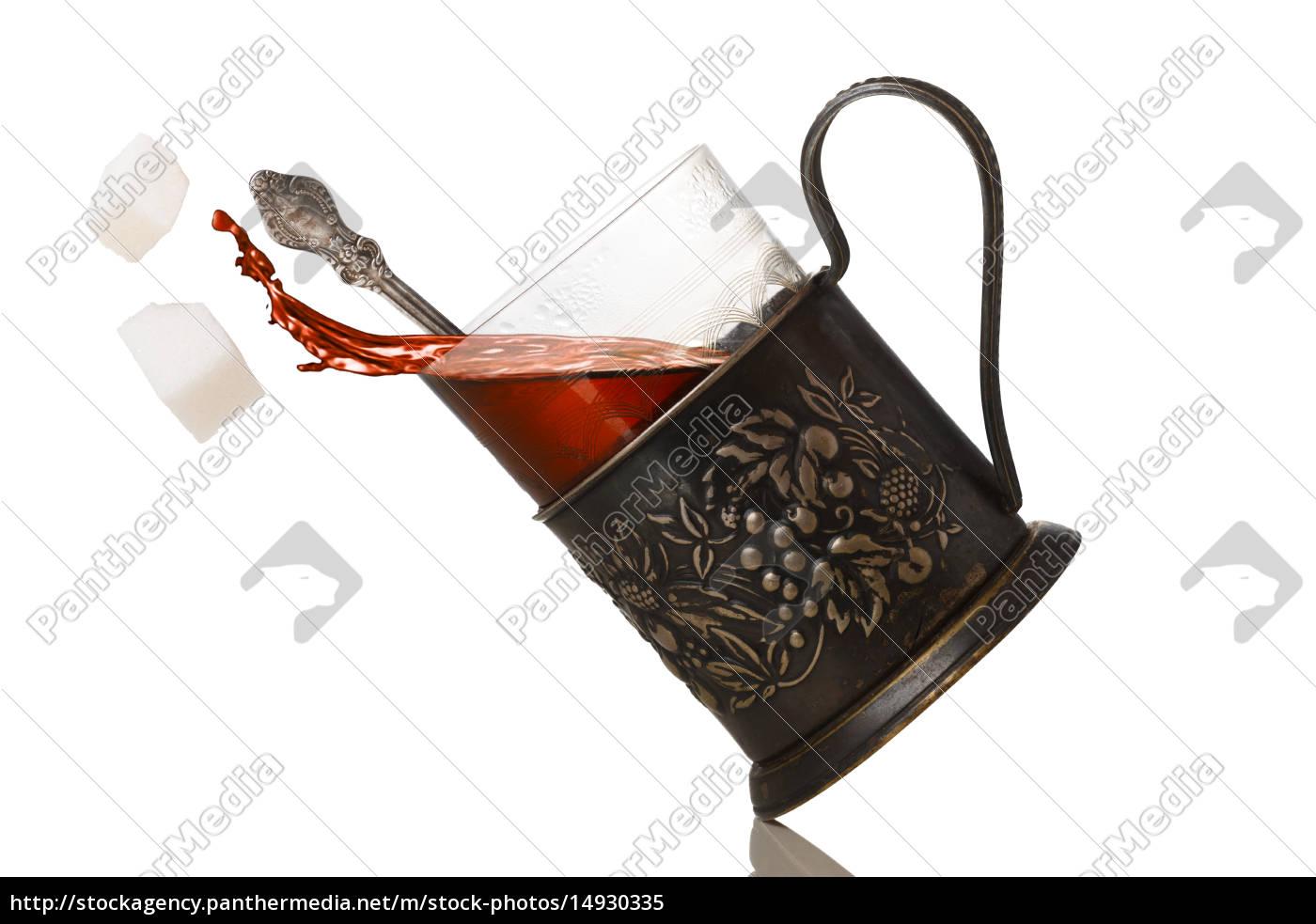 tea, in, glassholder, (podstakannik) - 14930335