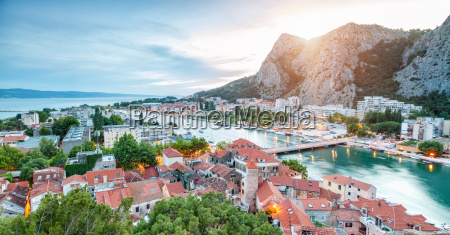 old coastal town omis in croatia