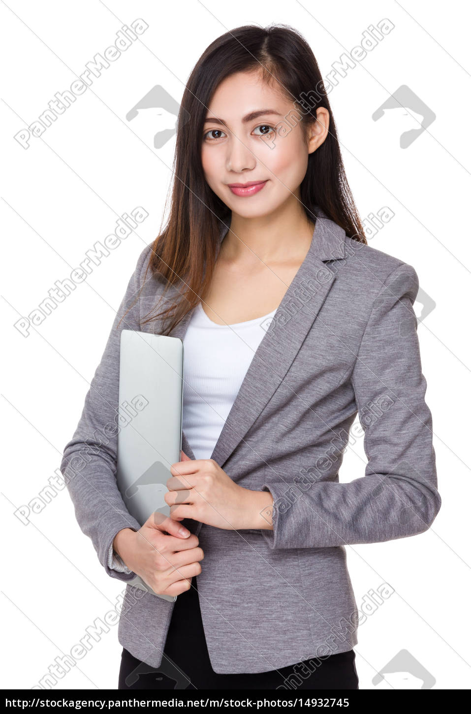 asian, businesswoman, holding, with, laptop, computer - 14932745