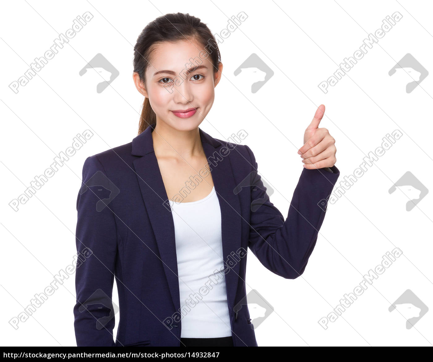 businesswoman, with, thumb, up - 14932847