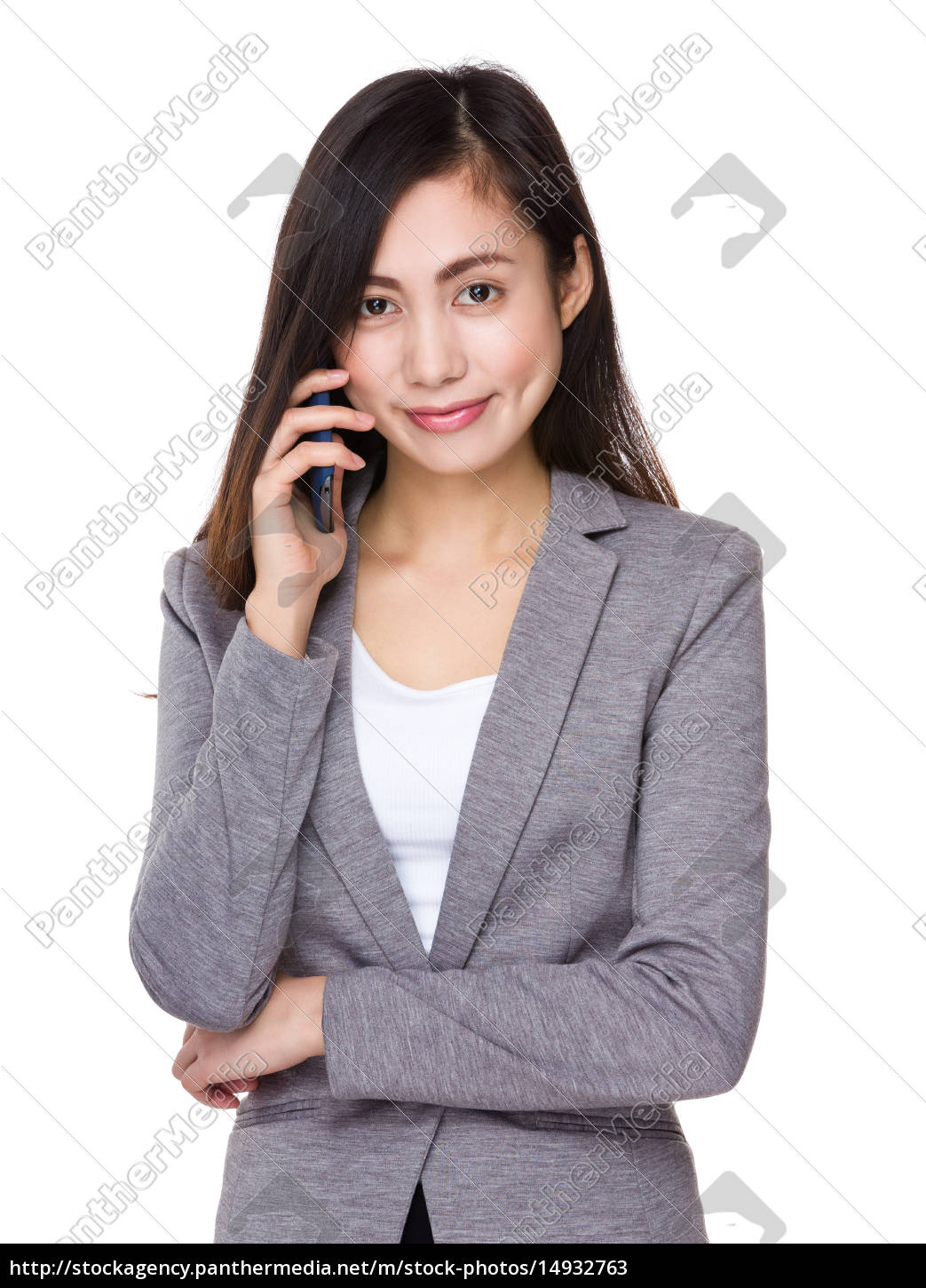 young, businesswoman, talk, to, cellphone - 14932763