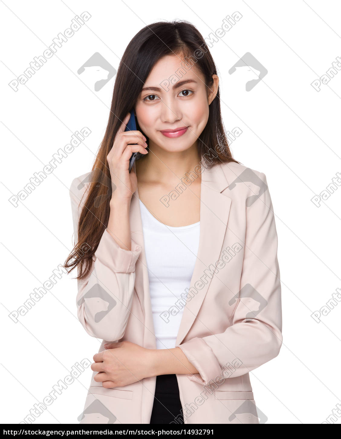 young, businesswoman, talk, to, cellphone - 14932791
