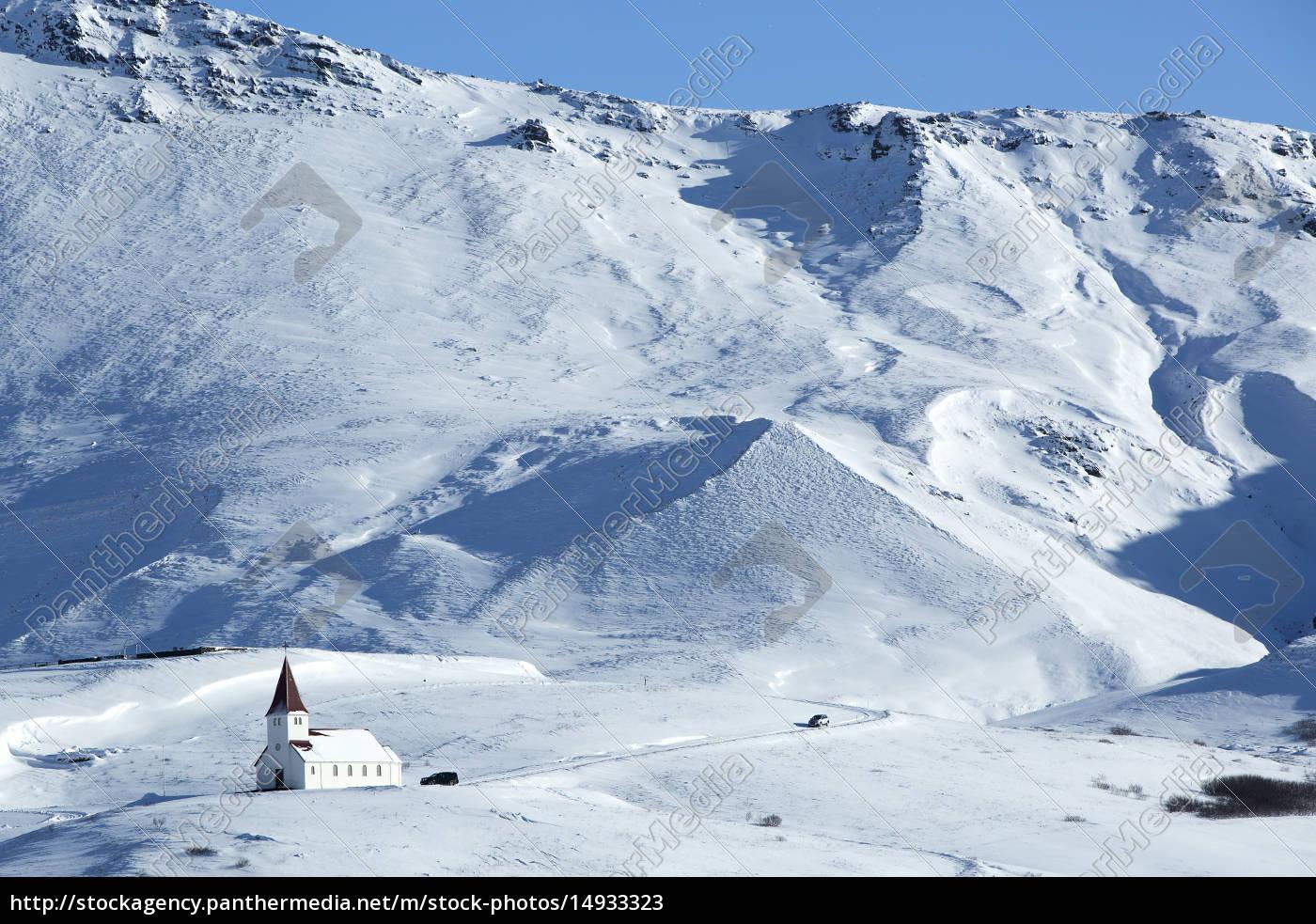 church, of, vik, in, wintertime, , iceland - 14933323