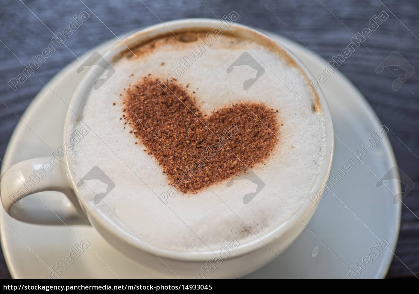 coffee, heart, shape - 14933045
