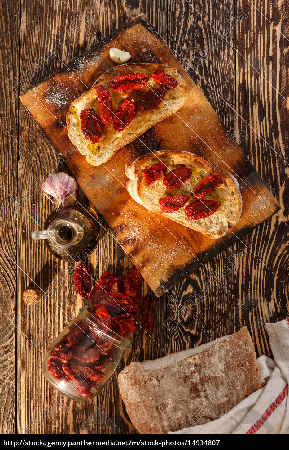 bruschetta, with, tomato - 14934807
