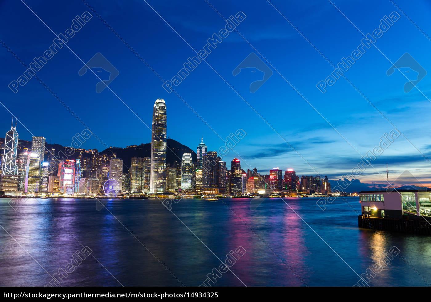 hong, kong, city, at, night - 14934325