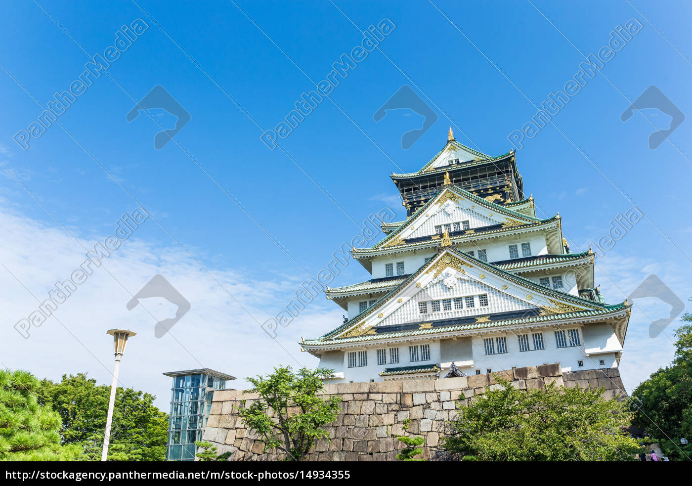 osaka, castle, in, japan - 14934355