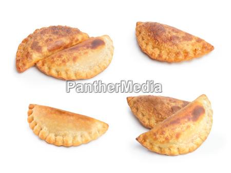 empanadas set isolated