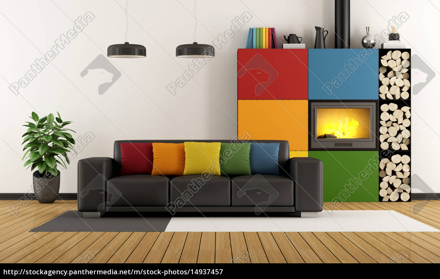 colorful, living, room - 14937457