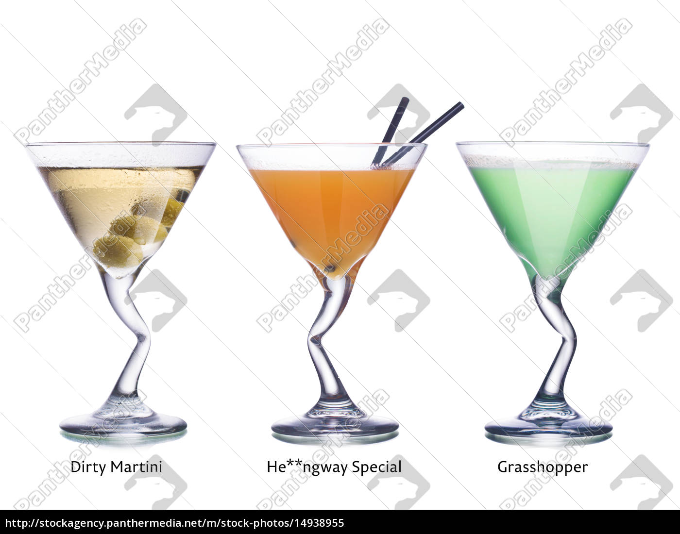 cocktails, in, martini, glasses - 14938955