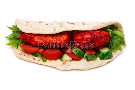 tikka, masala, naan, sandwich - 14938927