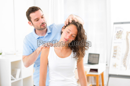 young attractive woman being manipulated by