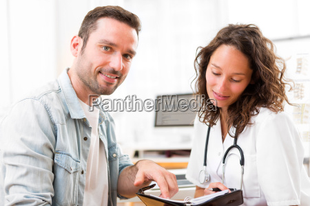 young attractive doctor dating next appointment