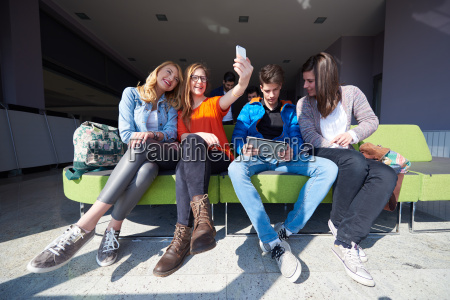 students, group, taking, selfie - 14939955
