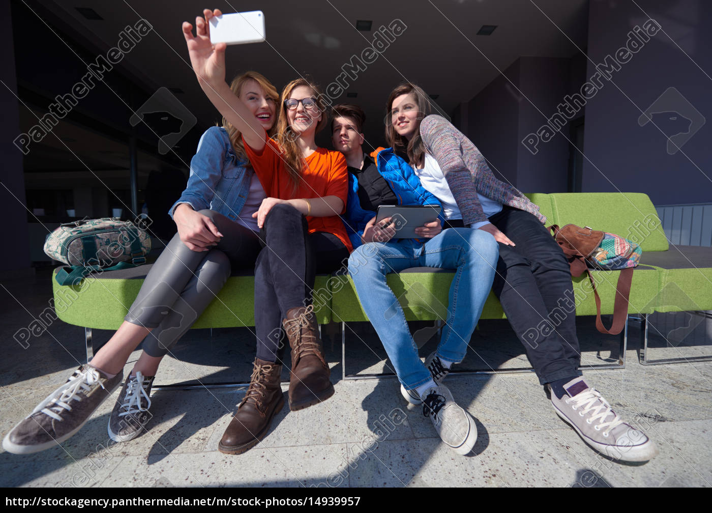 students, group, taking, selfie - 14939957