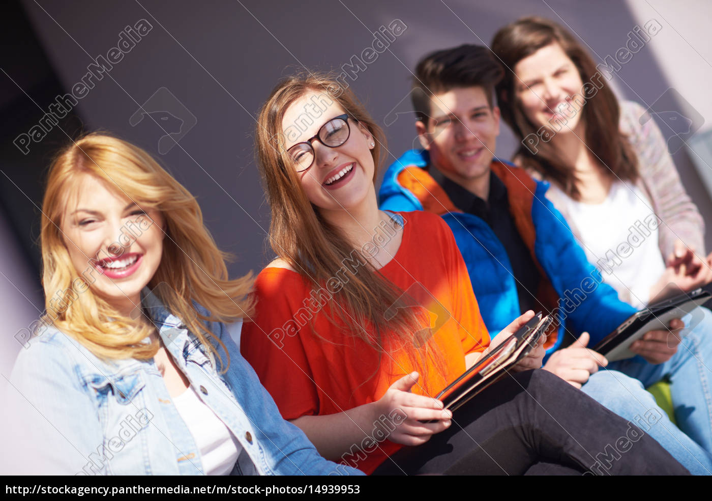 students, group, working, on, school, - 14939953