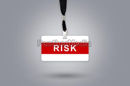 risk on badge
