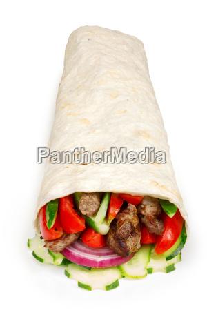 beef, shawarma, isolated - 14940599