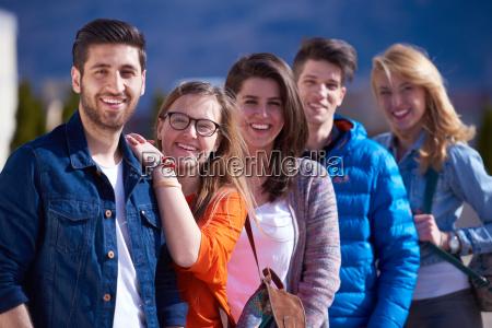 happy, students, group - 14940389