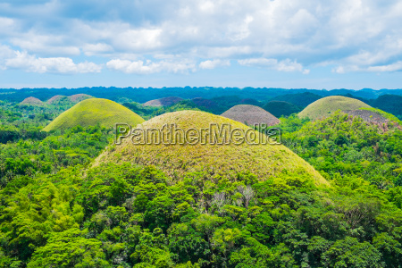 famous chocolate hills natural landmark in
