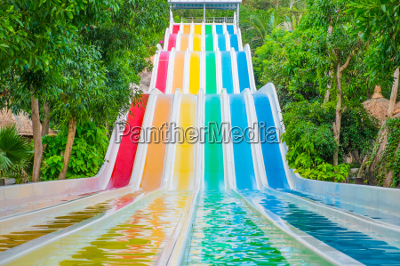 colorful, waterslides, in, water, park - 14941215
