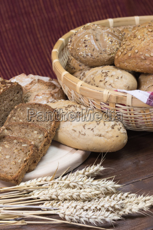 wholemeal bread and pastries