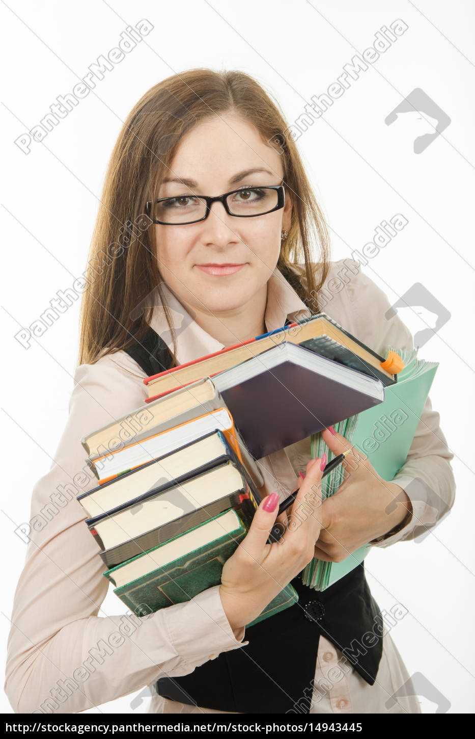 portrait, of, a, teacher, with, books - 14943445