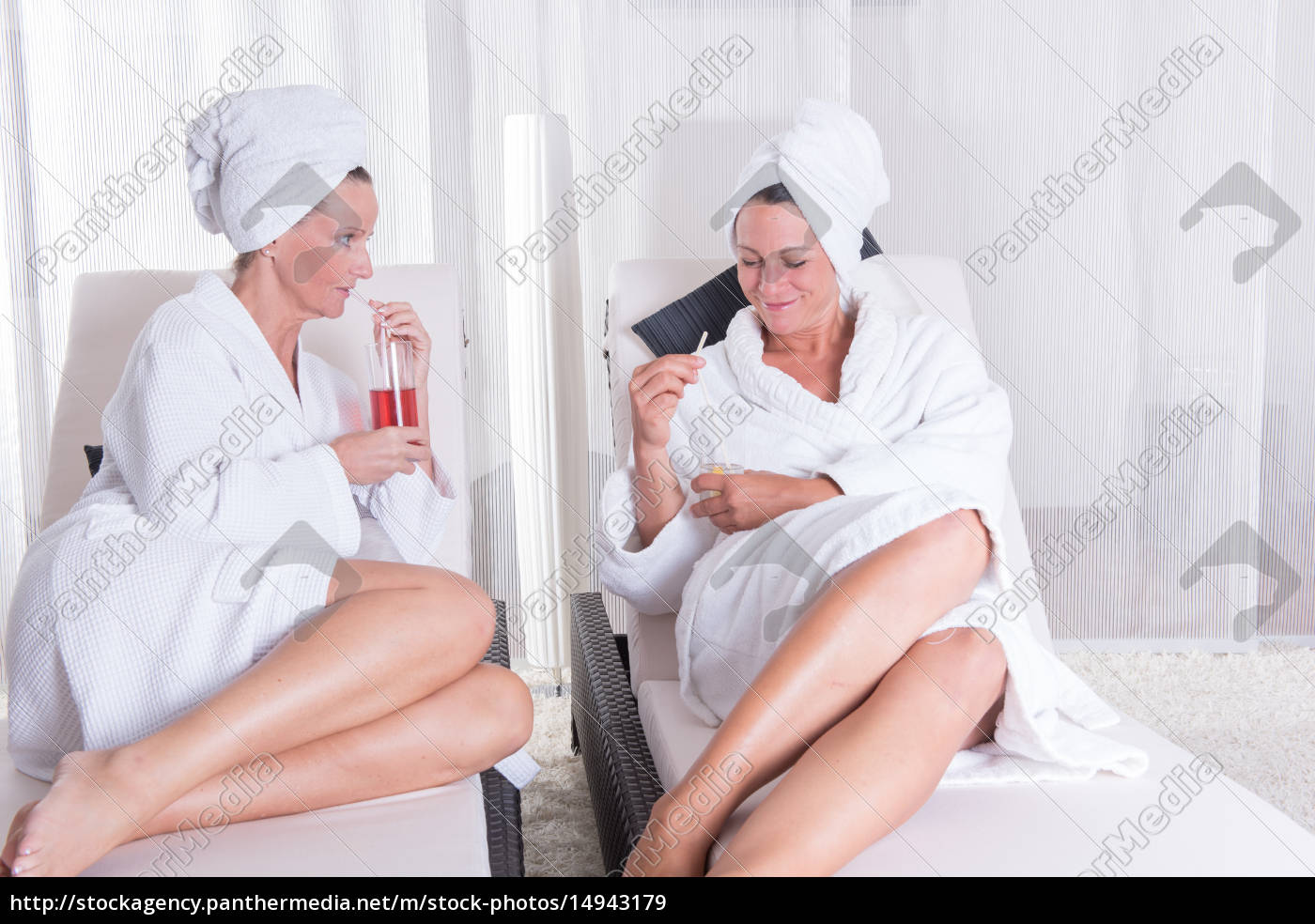 two, attractive, women, resting, after, the - 14943179