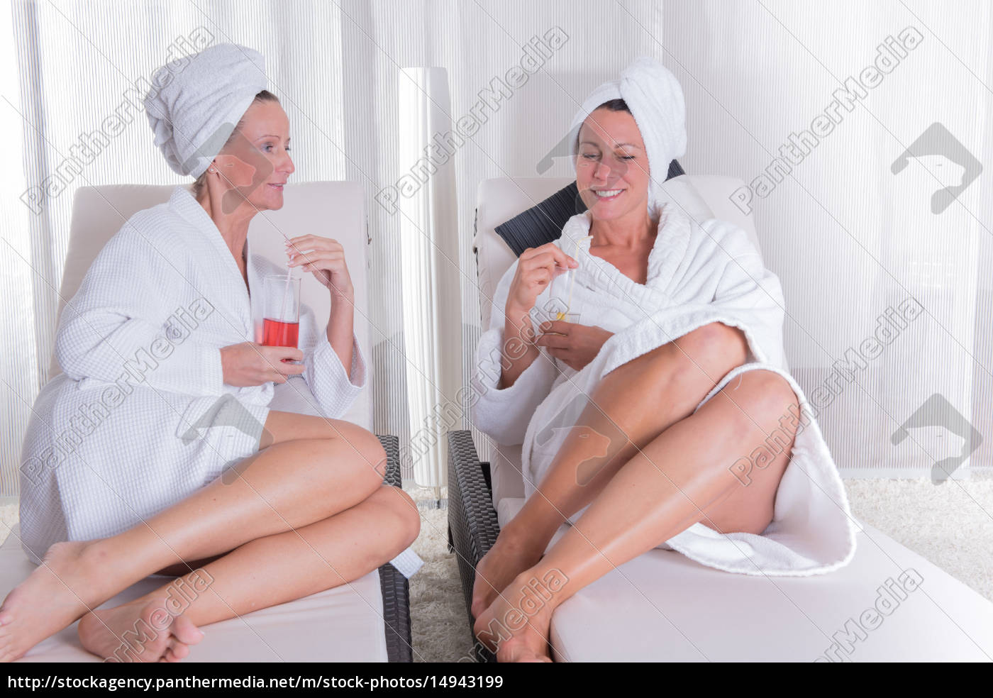 two, attractive, women, resting, after, the - 14943199