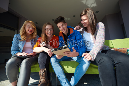 students, group, working, on, school, - 14946847