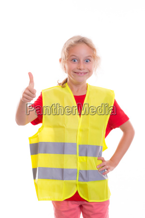 blond, girl, with, reflective, vest - 14947123