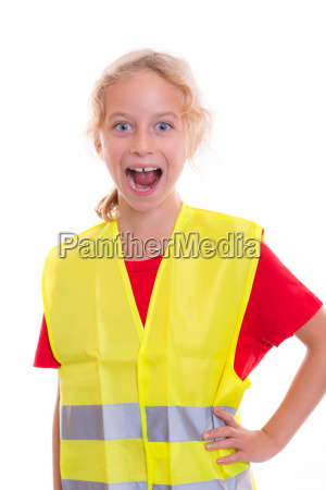 blond, girl, with, reflective, vest - 14947149