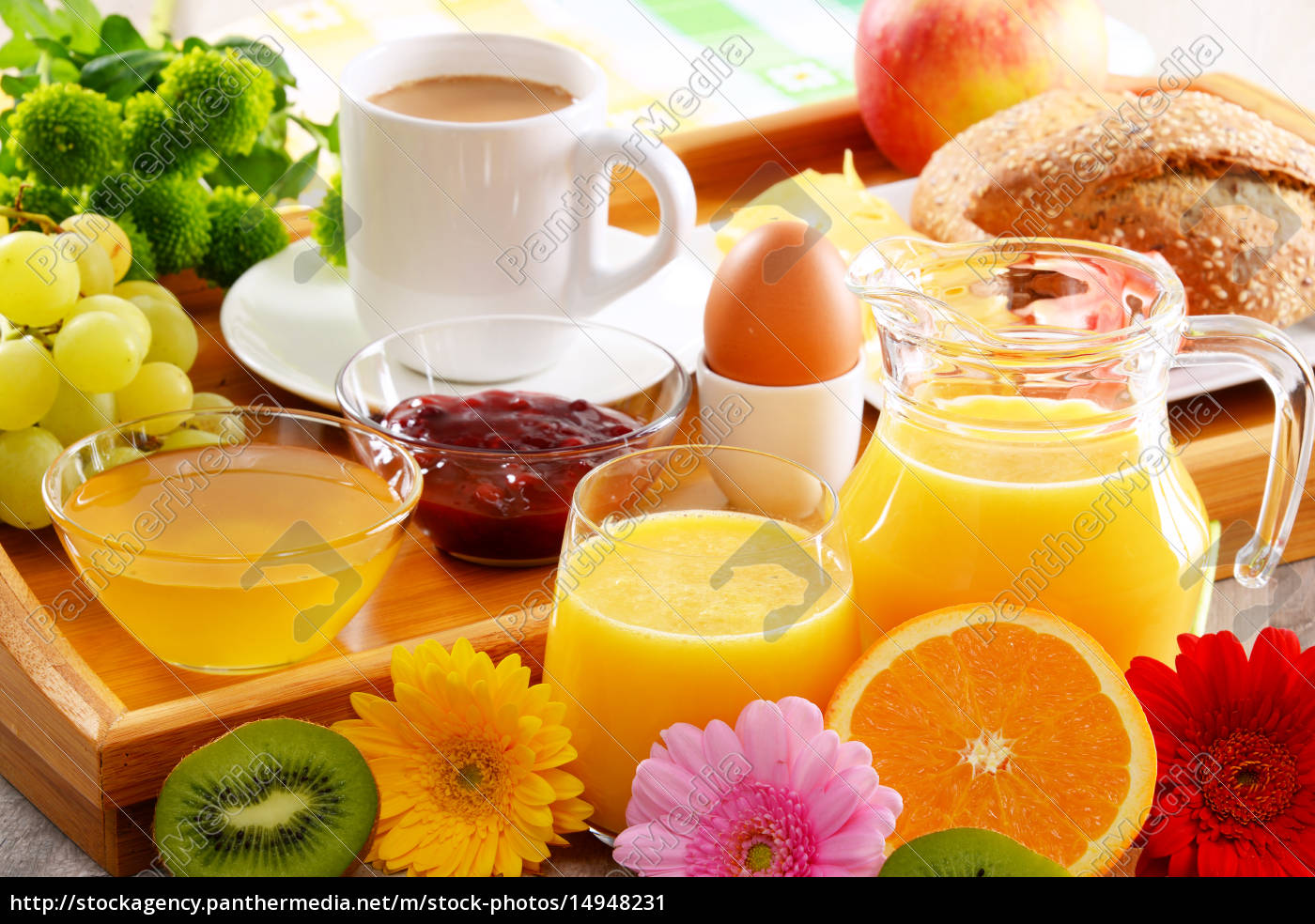 breakfast, on, tray, served, with, coffee, - 14948231