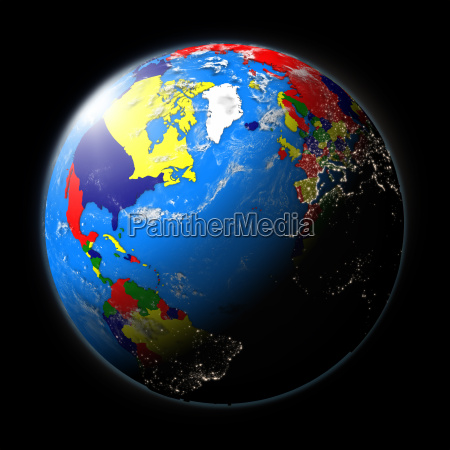 planet earth north