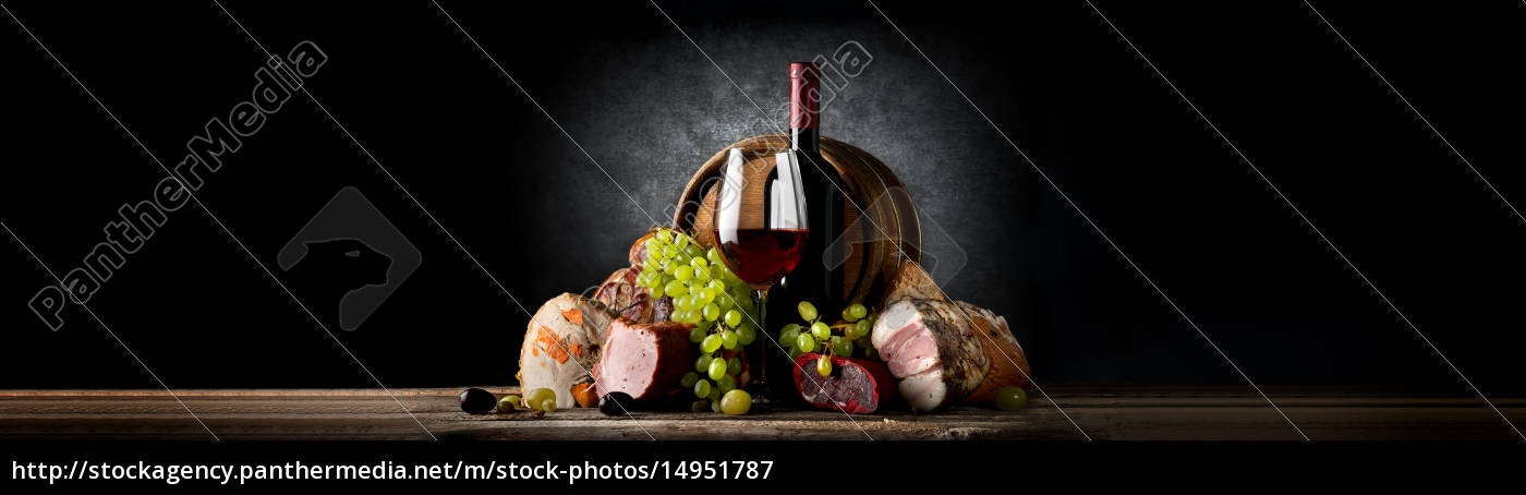 composition, with, wine, and, food - 14951787