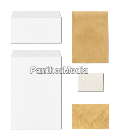 envelopes mockup template white background