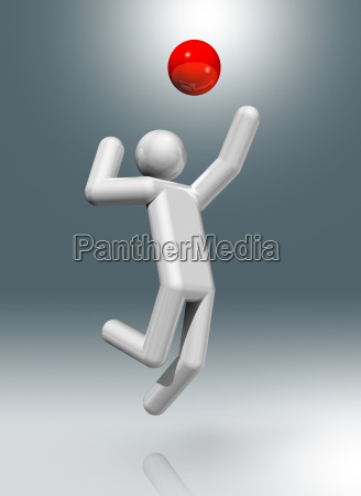 volleyball 3d symbol olympic sports