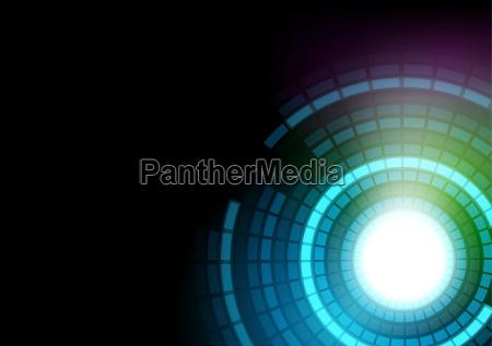 glowing segmented circles