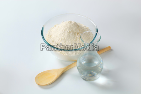 white flour with water