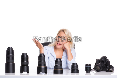 annoyed photographer sitting in front of