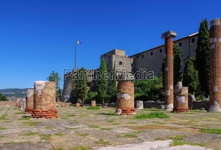 trieste castle and forum trieste