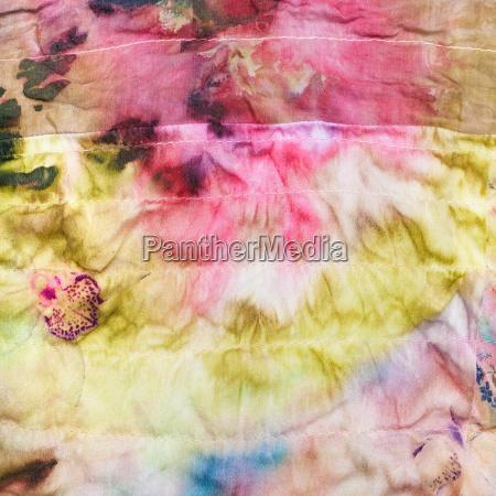 abstract pattern on stitched silk batik