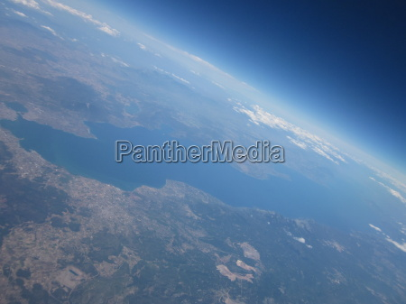 aerial view from the aircraft with