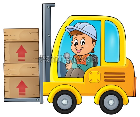 fork lift truck theme image 1