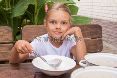 girl with a ladle in the