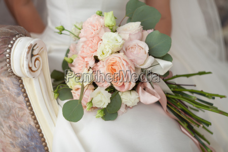 bridal bouquet in the hands of